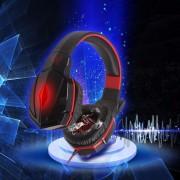 Audífonos Gamer, G4000 Ató Con Alambre El Receptor De Cabeza De Múltiples Funciones Del Juego Del Receptor De Cabeza Del Juego De La Venda Del USB Headphone (rojo Negro)