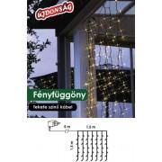 Fényfüggöny díszvilágítás 1,5x1,5m 198db meleg fehér LED KDL 130