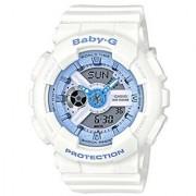 Casio Analog-Digital White Round Watch - BA-110BE-7ADR (BX083)