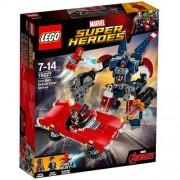 Set de constructie LEGO Marvel Super Heroes Iron Man: Atacul lui Detroit Steel
