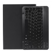 2 in 1 ABS Bluetooth Keyboard Leather Tablet Cover for iPad 10.2 (2019) (A102) [Backlight Version] - Black