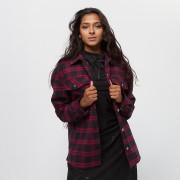 Urban Classics Ladies Oversized Overshirt - Blauw,Rood - Size: Large; female