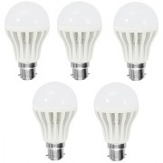 3w Led Bulb Combo Set of 5 Pcs. For Diwali Gift /Home Decor/ Wedding/ Birthday/ Festivals/ Anniversary/ All Purpose Gifting (White)