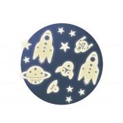 Dekoracyjne naklejki KOSMOS do dziecięcego pokoju fluorescencyjne DJECODD04591