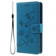 Sony Xperia L1 Butterfly Wallet Case - Blue