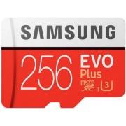 Card de memorie Samsung MicroSDXC EVO Plus, 256GB, Clasa 10, UHS-I (U3) + Adaptor SD