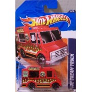 2011 HOT WHEELS HW CITY WORKS 174/244 RED FRIBURGER'S GRILL ICE CREAM TRUCK 4/10