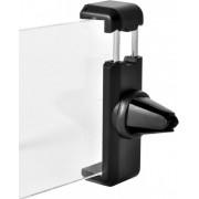 Suport auto Procell PVENTHOLDBK Universal, prindere la ventilatie, cu deschiderea pana la 8cm (Negru)
