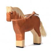 Jucarie calul blond BumbuToys, din lemn