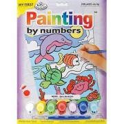 Royal Brush My First Paint by Number Kit 8.75 by 11.375-Inch Sea Animals