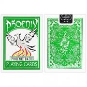 1 Deck of Phoenix Playing Cards (GREEN) Phoenix Back Standard Deck by Card Shark