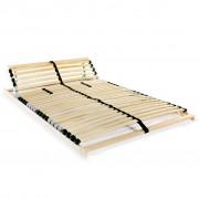 vidaXL Stelaż do łóżka z 28 listwami, 7 stref, 100 x 200 cm
