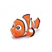 Emob Cute Fish Toys Wind-up with Winding Chain and Moving Wheels Feature for Toddlers (Fish) (Muticolor) Pack of 1