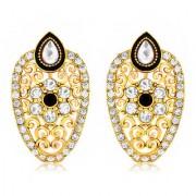 Spargz Antique Black Gold Plated Designer Earrings For Women AIER 613