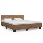 vidaXL Cadru de pat, culoare naturală, 180 x 200 cm, ratan natural