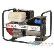 Honda benzinmotoros TR-6,5 áramfejlesztő, 1 fázis 4 kVA, 3 fázis 6,5 kVA
