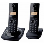 Tefono Fijo Panasonic Kx-tg1712 Duo Dect 6.0-Negro