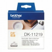Оригинална лента Brother DK-11219, черен текст на бял фон, 29mm x 90mm.