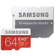 Samsung EVO Plus 64GB Micro SDXC with SD Adapter