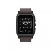 Vector Meridian Smart Watch Small Fit - луксозен Bluetooth тъч часовник за iOS, Android и Windows смартфони (кафява кожена каишка)