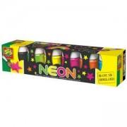 Комплект неонови бои 6 цвята, SES, 080801