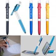 Pearl 4in1-Kugelschreiber mit LED-Lampe, Touchpen und Handy-Ständer, 5er-Set