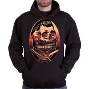 kapucnis pulóver férfi - Barber - BLACK HEART - BH095
