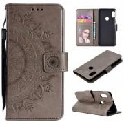 Mandala Series Xiaomi Redmi Note 5 Pro Wallet Case - Grey