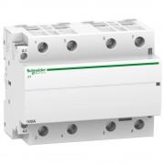 Moduláris kontaktor 100A, 4 Záró érintkező, 220-240V AC 50 Hz (Schneider A9C20884)
