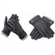 Men's Gallery Seven Fashion Winter Gloves Mens - Lined - Touchscreen Large Black- Style 1 Black Fur