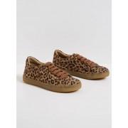 Cyrillus Mädchen-Sneakers mit Leoparden-Print leoparden-print