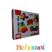 Дървена игра блокчета 100 броя
