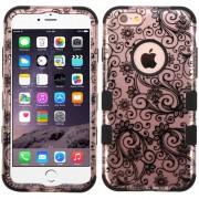 Funda Case para iPhone 6 Plus Protector de Uso Rudo-Rose Gold Lace