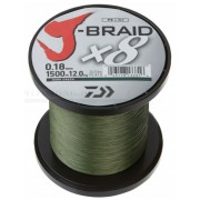 Fir impletit DAIWA J-BRAID verde inchis 8 BRAID 1500M 0, 20MM