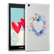 kwmobile Průhledné pouzdro s designem srdce pro Asus ZenPad C 7.0 (Z170C / Z170CG) - vícebarevná