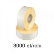 Félfényes etikett címke, 30x15mm, 3000 címke/tekercs