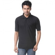 Calibro Mens Black Polo Neck T-shirt