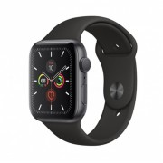 Watch, Apple Series 5 GPS, 40mm Space Grey Aluminium Case with Black Sport Band (MWV82BS/A)