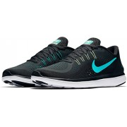 Men's Nike Flex RN 2017 Running Shoe Anthracite/Clear Jade/Black/Blustery Size (UK-7) (US-8)