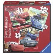 PUZZLE CARS, 3 BUC IN CUTIE, 25/36/49 PIESE (RVSPC07258)