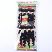 rosegal 8Pcs/Lot Stylish Black 90 Percent Human Hair Blended Synthetic Fluffy Wave Women's Hair Extension