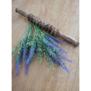 Roller din lemn wenge, pentru masaj cu 5 role duble, 10 discuri zimtate (cod R105-9)