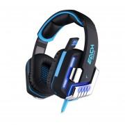 Audífonos Gamer, G8200 Gaming Auricular Auricular De Juego De Vibración USB Con Luz LED (Negro Azul)