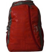 TREKKERS NEED Waterproof Light Weight Casual Backpack School Bag in Red and Grey colour 30 L Backpack(Red)