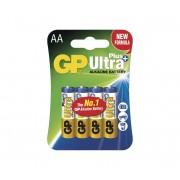 4 buc Baterie alcalină AA GP ULTRA PLUS 1,5V