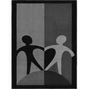 Världens Barn Filt 130x175 cm, svart/grå