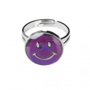 ELECTROPRIME Kids Magic Smiling Face Emotion Feeling Mood Color Changing band Ring US Size 7