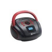 Rádio Portátil Boombox Lenoxx, Entrada USB e Micro SD, Bluetooth, Preto / Vermelho - BD110