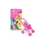 Carrinho de Boneca Minnie Mouse Bow-Tique Disney Rosa - Xalingo