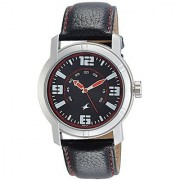 Fastrack Analog Black Dial Mens Watch-3021SL04